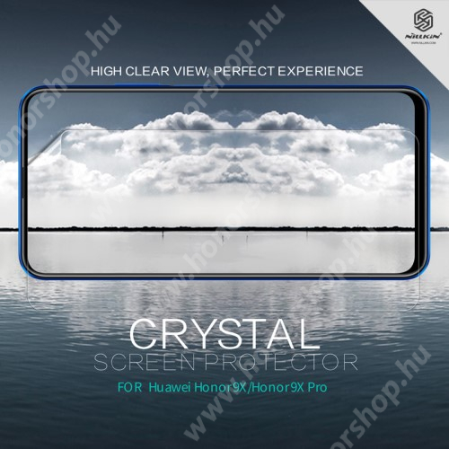 NILLKIN képernyővédő fólia - Crystal Clear - 1db, törlőkendővel - HUAWEI P smart Pro (2019) / HUAWEI P Smart Z / HUAWEI Y9s / Honor 9X (Global) / Honor 9X (China) / Honor 9X Pro (China) - GYÁRI