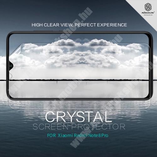 NILLKIN képernyővédő fólia - Crystal Clear - 1db, törlőkendővel - Xiaomi Redmi Note 8 Pro - GYÁRI