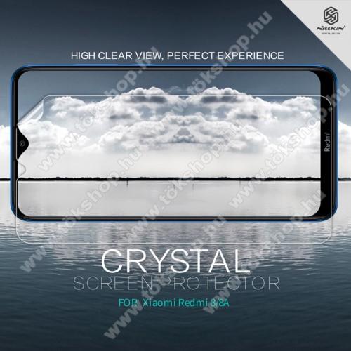 NILLKIN képernyővédő fólia - Crystal Clear - 1db, törlőkendővel - Xiaomi Redmi 8A / Xiaomi Redmi 8 - GYÁRI