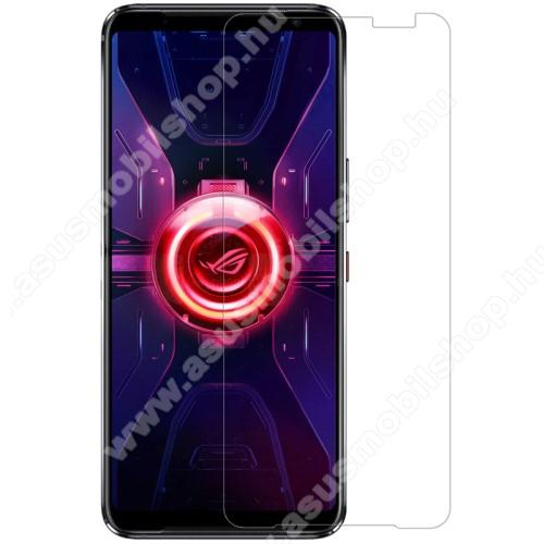 NILLKIN képernyővédő fólia - Crystal Clear - 1db, törlőkendővel, A képernyő sík részét védi! - ASUS ROG Phone 3 (ZS661KS) / ASUS ROG Phone 3 Strix - GYÁRI