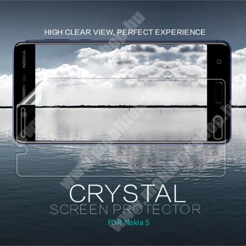 NILLKIN képernyővédő fólia - Crystal Clear - 1db, törlőkendővel - NOKIA 5 - GYÁRI