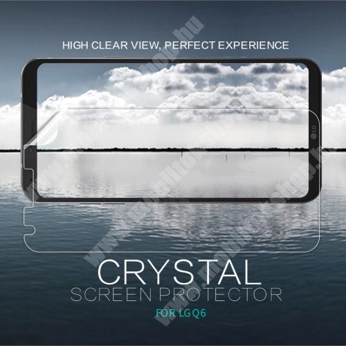 NILLKIN képernyővédő fólia - Crystal Clear - 1db, törlőkendővel - LG Q6 / LG Q6 Plus - GYÁRI