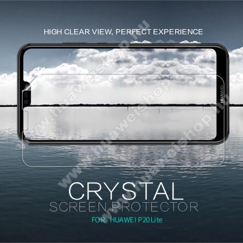 HUAWEI P20 Lite (2018)NILLKIN képernyővédő fólia - CRYSTAL HD Clear - 1db, törlőkendővel - HUAWEI P20 lite (2018) / HUAWEI Nova 3e - GYÁRI