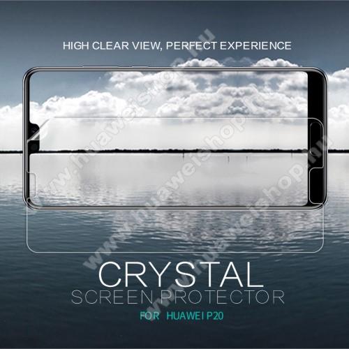 Huawei P20 (2018)NILLKIN képernyővédő fólia - CRYSTAL HD Clear - 1db, törlőkendővel - HUAWEI P20 (2018) - GYÁRI