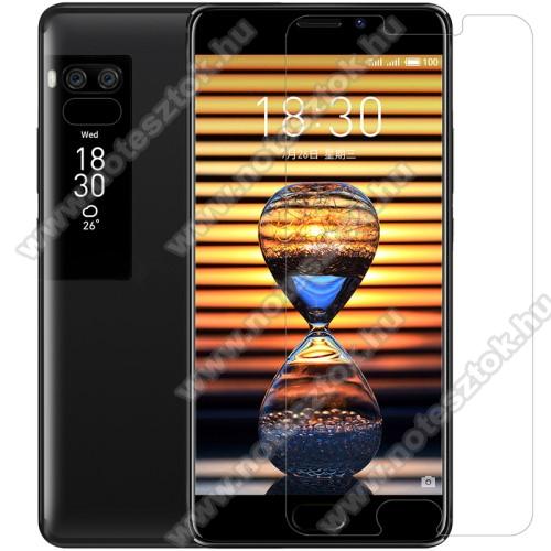NILLKIN képernyővédő fólia - CRYSTAL HD Clear - 1db, törlőkendővel - MEIZU Pro 7 - GYÁRI