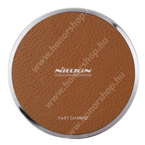 HUAWEI Honor 3C Play NILLKIN Magic Disk III - QI Univerzális vezeték nélküli töltő - 5V / 2A, 9V / 1.7A  - BARNA
