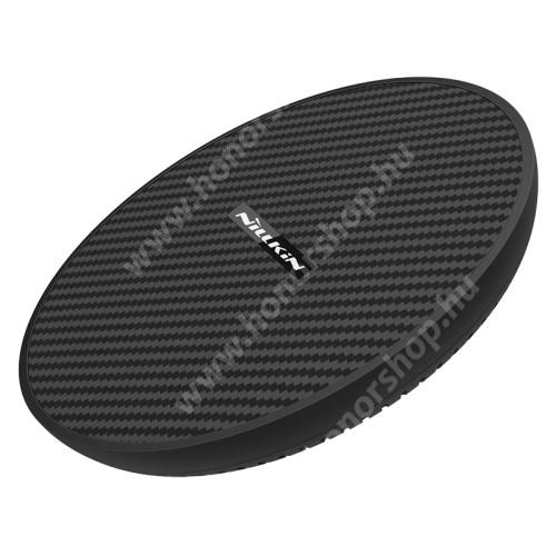 HUAWEI Honor 3C Play NILLKIN MC035 hálózati töltő állomás (vezeték nélküli töltés, QI Wireless, gyorstöltés támogatás, karbonminta, fogadóegység nélkül!, 15W (Max)) FEKETE - MC035_K - GYÁRI