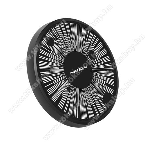 NILLKIN MC045 hálózati töltő állomás (vezeték nélküli töltés, QI Wireless, gyorstöltés támogatás, karbonminta, fogadóegység nélkül!, 15W (Max)) FEKETE - GYÁRI