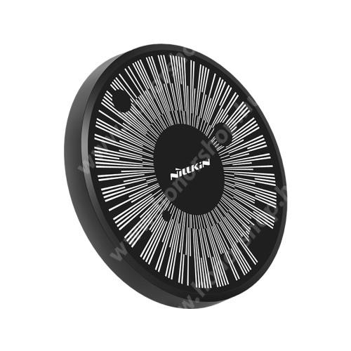 HUAWEI Honor 3C Play NILLKIN MC045 hálózati töltő állomás (vezeték nélküli töltés, QI Wireless, gyorstöltés támogatás, karbonminta, fogadóegység nélkül!, 15W (Max)) FEKETE - GYÁRI