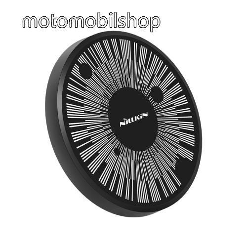 MOTOROLA Moto X Style NILLKIN MC045 hálózati töltő állomás (vezeték nélküli töltés, QI Wireless, gyorstöltés támogatás, karbonminta, fogadóegység nélkül!, 15W (Max)) FEKETE - GYÁRI