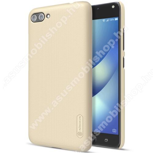 NILLKIN műanyag védő tok / hátlap - ARANY - képernyővédő fólia - ASUS Zenfone 4 Max (ZC554KL) / ASUS Zenfone 4 Max Plus (ZC554KL) / ASUS Zenfone 4 Max Pro (ZC554KL) - GYÁRI