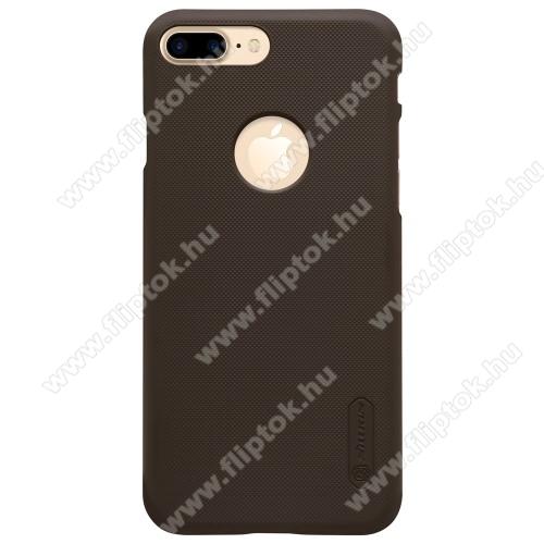 NILLKIN műanyag védő tok / hátlap - BARNA - képernyővédő fólia - APPLE iPhone 7 Plus (5.5) - GYÁRI