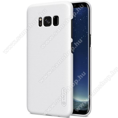 NILLKIN műanyag védő tok / hátlap - FEHÉR - képernyővédő fólia - SAMSUNG SM-G955 Galaxy S8 Plus - GYÁRI