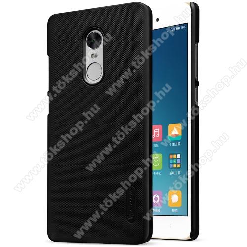 NILLKIN műanyag védő tok / hátlap - FEKETE - képernyővédő fólia - Xiaomi Redmi Note 4X (Global version) - GYÁRI