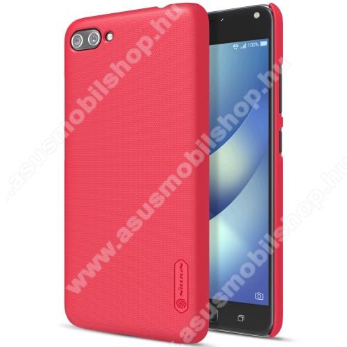 NILLKIN műanyag védő tok / hátlap - PIROS - képernyővédő fólia - ASUS Zenfone 4 Max (ZC554KL) / ASUS Zenfone 4 Max Plus (ZC554KL) / ASUS Zenfone 4 Max Pro (ZC554KL) - GYÁRI