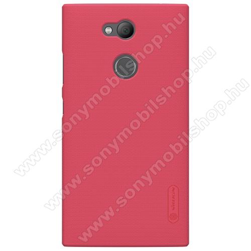 NILLKIN műanyag védő tok / hátlap - PIROS - képernyővédő fólia - Sony Xperia L2 - GYÁRI