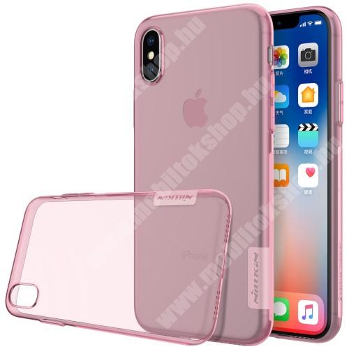 APPLE iPhone XS NILLKIN Nature Slim szilikon védő tok / hátlap - 0,6mm - RÓZSASZÍN - APPLE iPhone X / APPLE iPhone XS - GYÁRI