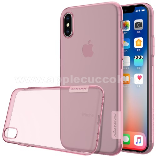 APPLE iPhone X NILLKIN Nature Slim szilikon védő tok / hátlap - 0,6mm - RÓZSASZÍN - APPLE iPhone X / APPLE iPhone XS - GYÁRI