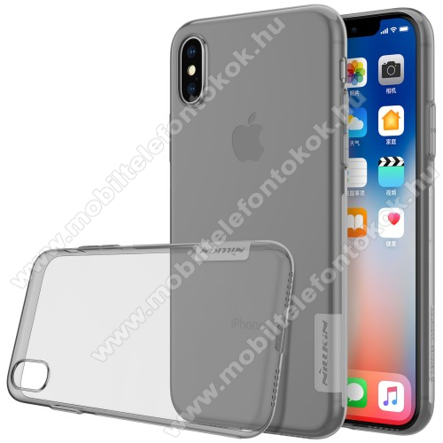 APPLE iPhone XS NILLKIN Nature Slim szilikon védő tok / hátlap - 0,6mm - SZÜRKE - APPLE iPhone X / APPLE iPhone XS - GYÁRI