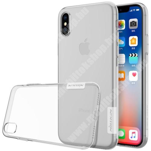 APPLE iPhone XS NILLKIN Nature Slim szilikon védő tok / hátlap - 0,6mm - ÁTLÁTSZÓ - APPLE iPhone X / APPLE iPhone XS - GYÁRI