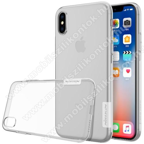 NILLKIN Nature Slim szilikon védő tok / hátlap - 0,6mm - ÁTLÁTSZÓ - APPLE iPhone X / APPLE iPhone XS - GYÁRI