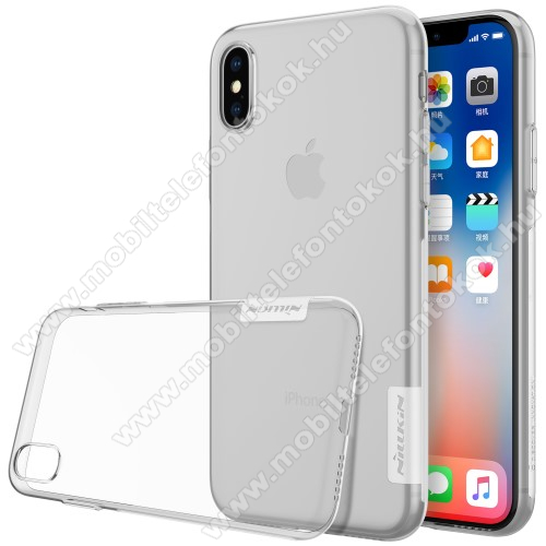 APPLE iPhone XS NILLKIN Nature Slim szilikon védő tok / hátlap - 0,6mm - ÁTLÁTSZÓ - APPLE iPhone X / APPLE iPhone XS - GYÁRI
