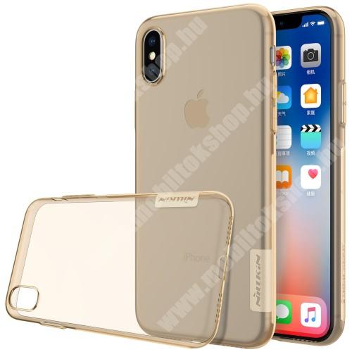 APPLE iPhone XS NILLKIN Nature Slim szilikon védő tok / hátlap - 0,6mm - ARANY - APPLE iPhone X / APPLE iPhone XS - GYÁRI