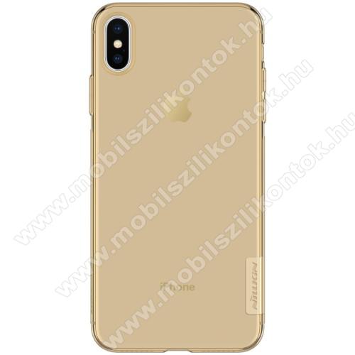NILLKIN Nature Slim szilikon védő tok / hátlap - 0,6mm - ARANY - APPLE iPhone XS Max - GYÁRI