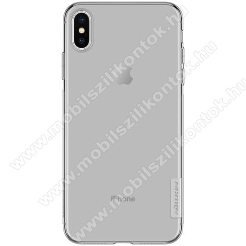 NILLKIN Nature Slim szilikon védő tok / hátlap - 0,6mm - SZÜRKE - APPLE iPhone XS Max - GYÁRI