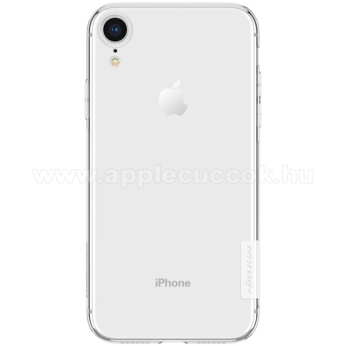 NILLKIN Nature Slim szilikon védő tok / hátlap - 0,6mm - ÁTLÁTSZÓ - APPLE iPhone Xr - GYÁRI