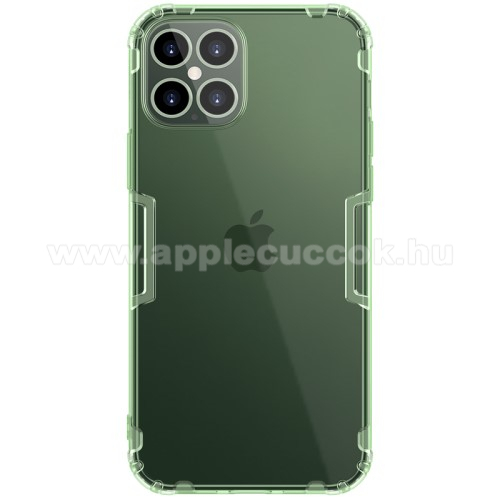 APPLE iPhone 12 Pro MaxNILLKIN Nature szilikon védő tok / hátlap - ÁTTETSZŐ ZÖLD - erősített sarkok, ERŐS VÉDELEM! - APPLE iPhone 12 Pro Max - GYÁRI