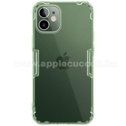 NILLKIN Nature szilikon védő tok / hátlap - ÁTTETSZŐ ZÖLD - erősített sarkok, ERŐS VÉDELEM! - APPLE iPhone 12 mini - GYÁRI