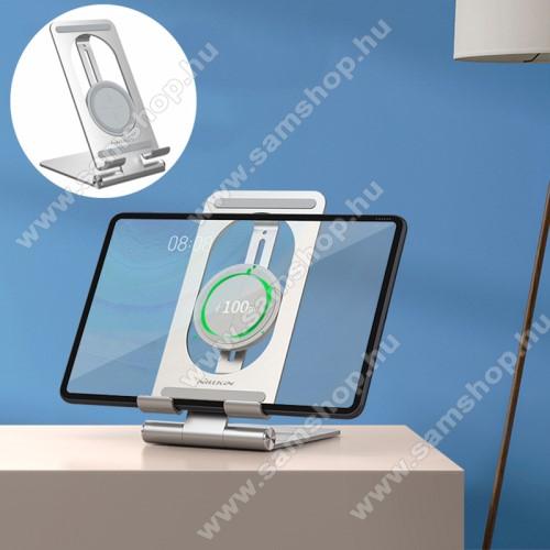 SAMSUNG GT-M7500 Emporio ArmaniNILLKIN PowerHold UNIVERZÁLIS asztali töltő / alumínium állvány - EZÜST - QI Wireless vezetéknélküli töltő funkció, 15W (max), gyorstöltés támogatás, állítható, Type-C / USB kábellel, tablethez is alkalmas, fogadóegység NÉLKÜL! - GYÁRI