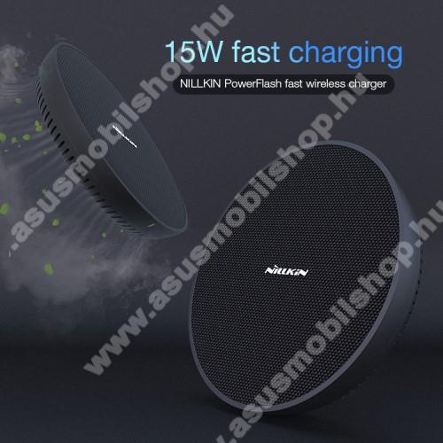NILLKIN QI Univerzális vezeték nélküli töltő - kimenet 15W(Max), bemenet 5V/2A; 9V/2A; 12V/1.5A, belső hűtőrendszer túlmelegedés ellen, FOD támogatás, fogadóegység NÉLKÜL! - FEKETE - MC035 - GYÁRI
