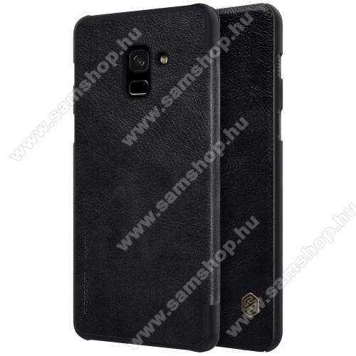 NILLKIN QIN notesz tok / flip tok - oldalra nyíló flip cover - FEKETE - SAMSUNG SM-A730F Galaxy A8 Plus (2018) - GYÁRI