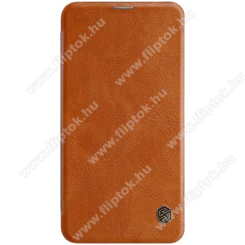 NILLKIN QIN notesz tok / flip tok - oldalra nyíló flip cover - BARNA - SAMSUNG SM-G970F Galaxy S10e - GYÁRI