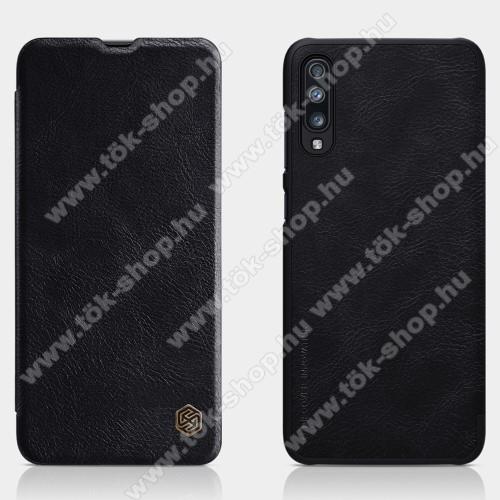 NILLKIN QIN notesz tok / flip tok - oldalra nyíló flip cover - FEKETE - SAMSUNG SM-A705F Galaxy A70 - GYÁRI