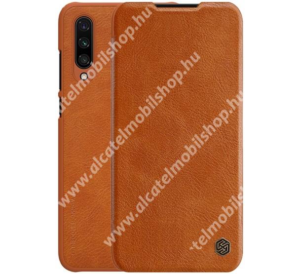 NILLKIN QIN notesz tok / flip tok - oldalra nyíló flip cover, bankkártyatartó zseb, műanyag belső - BARNA - Xiaomi Mi CC9e / Xiaomi Mi A3 - GYÁRI