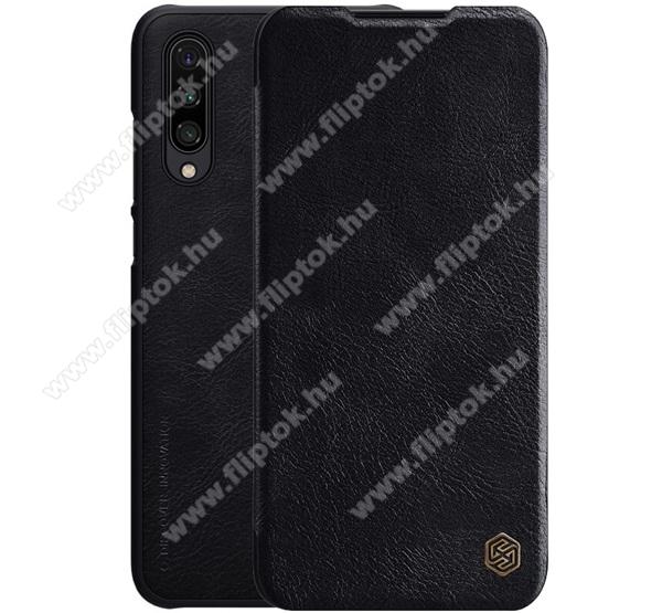 NILLKIN QIN notesz tok / flip tok - oldalra nyíló flip cover, bankkártyatartó zseb, műanyag belső - FEKETE - Xiaomi Mi CC9e / Xiaomi Mi A3 - GYÁRI