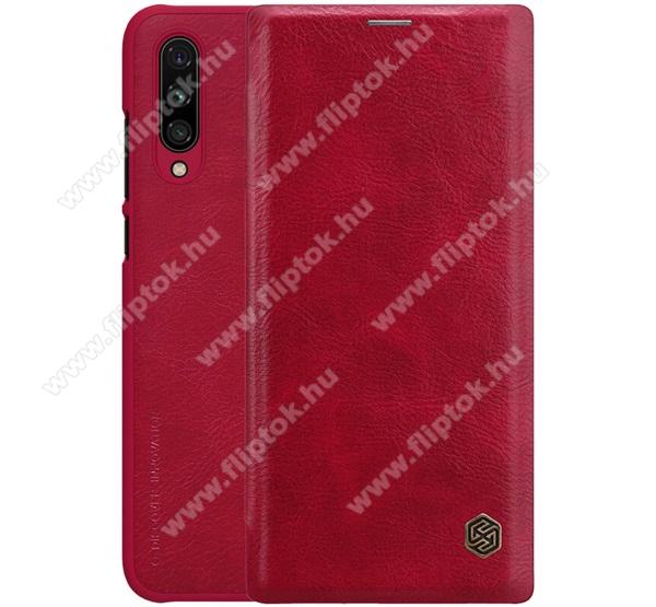 NILLKIN QIN notesz tok / flip tok - oldalra nyíló flip cover, bankkártyatartó zseb, műanyag belső - PIROS - Xiaomi Mi CC9e / Xiaomi Mi A3 - GYÁRI