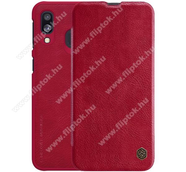 NILLKIN QIN notesz tok / flip tok - oldalra nyíló flip cover - PIROS - SAMSUNG SM-A405F Galaxy A40 - GYÁRI