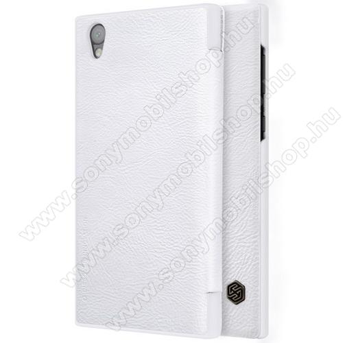 NILLKIN QIN notesz tok / flip tok - oldalra nyíló flip cover - FEHÉR - Sony Xperia L1 - GYÁRI