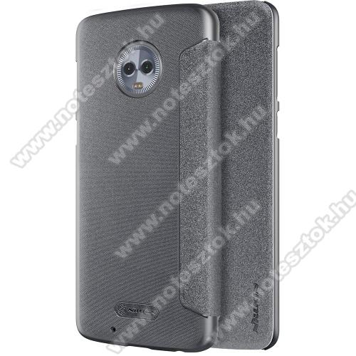 NILLKIN SPARKLE műanyag védő tok / hátlap - FEKETE - oldalra nyíló flip cover - MOTOROLA Moto G6 - GYÁRI