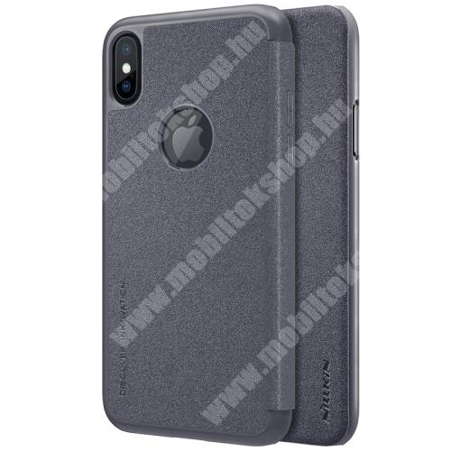 APPLE iPhone XS NILLKIN SPARKLE műanyag védő tok / hátlap - FEKETE - oldalra nyíló flip cover - APPLE iPhone X / APPLE iPhone XS - GYÁRI