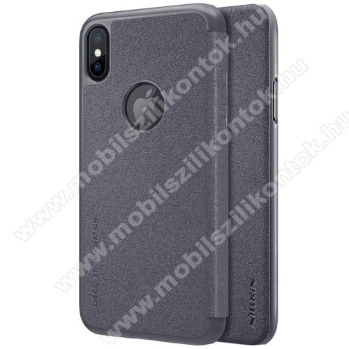 NILLKIN SPARKLE műanyag védő tok / hátlap - FEKETE - oldalra nyíló flip cover - APPLE iPhone X / APPLE iPhone XS - GYÁRI