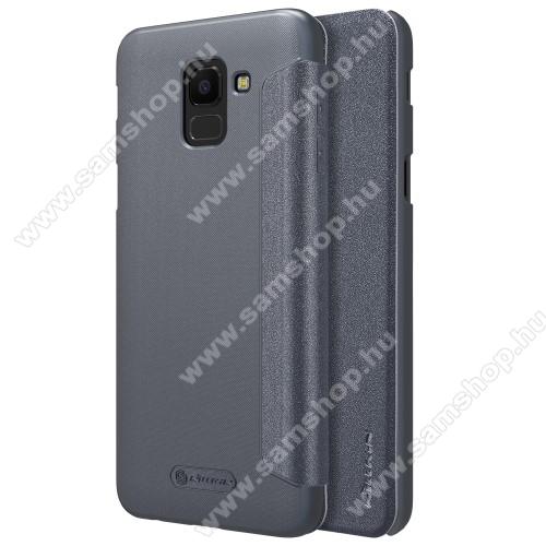 SAMSUNG SM-J600F Galaxy J6 (2018)NILLKIN SPARKLE műanyag védő tok / hátlap - FEKETE - oldalra nyíló flip cover - SAMSUNG SM-J600F Galaxy J6 (2018) - GYÁRI