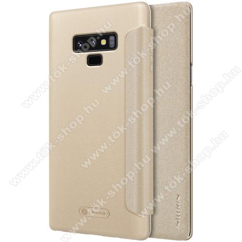 NILLKIN SPARKLE műanyag védő tok / hátlap - ARANY - oldalra nyíló flip cover - SAMSUNG Galaxy Note9 - GYÁRI