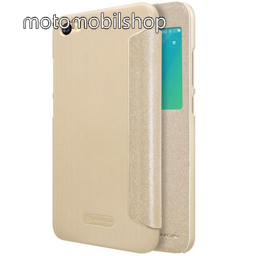 NILLKIN Sparkle notesz / mappa tok - ARANY - oldalra nyíló ablakos flip cover - Xiaomi Redmi Note 5A / Xiaomi Redmi Y1 Lite - GYÁRI