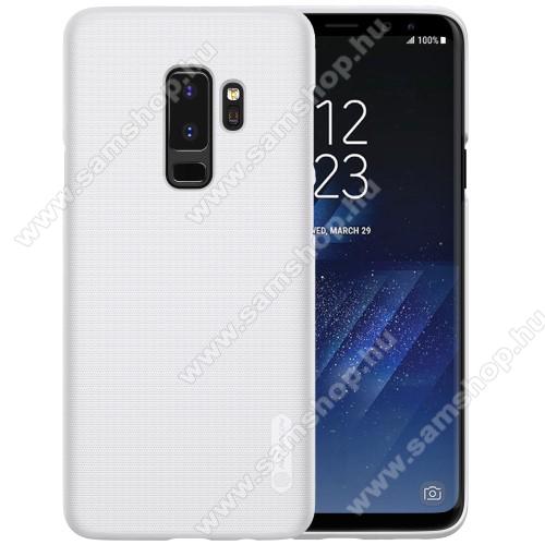 NILLKIN SUPER FROSTED mûanyag védõ tok / hátlap - érdes felület - FEHÉR - képernyővédő fólia - SAMSUNG SM-G965 Galaxy S9+ - GYÁRI