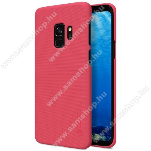 NILLKIN SUPER FROSTED mûanyag védõ tok / hátlap - érdes felület - PIROS - képernyővédő fólia - SAMSUNG SM-G960 Galaxy S9 - GYÁRI